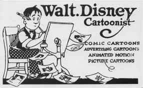 Walt Disney business card