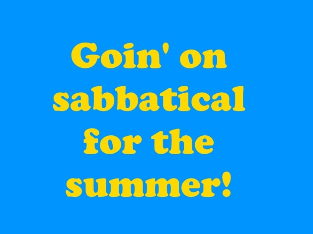 on sabbatical